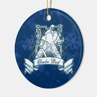 Weihnachtsbaum-Verzierung, Hockey-Tormann-Vati Rundes Keramik Ornament