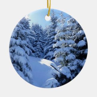 Weihnachtsbaum-Verzierung - Winter Rundes Keramik Ornament