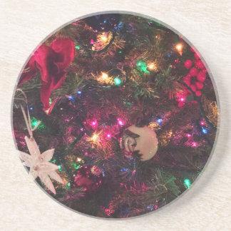 Weihnachtsbaum-Verzierungen Untersetzer