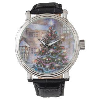 Weihnachtsbaum Vintag Armbanduhr