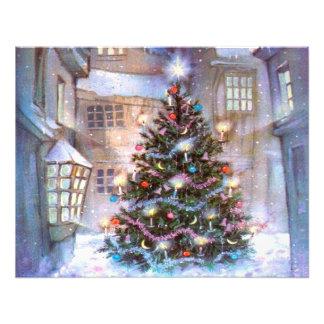 Weihnachtsbaum Vintag Fotodruck
