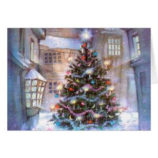 Weihnachtsbaum Vintag Karte