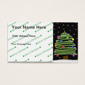 Weihnachtsbaum Visitenkarte