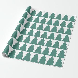 Weihnachtsbaum-Wald Geschenkpapier