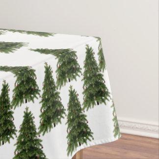 Weihnachtsbaum-Waldmuster-Baumwolltischdecke Tischdecke