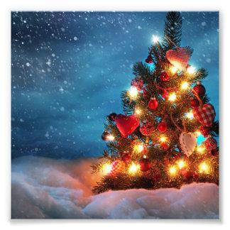 Weihnachtsbaum - Weihnachtsdekorationen - Fotodruck