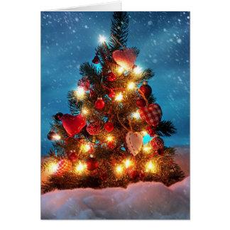 Weihnachtsbaum - Weihnachtsdekorationen - Karte