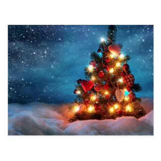 Weihnachtsbaum - Weihnachtsdekorationen - Postkarte