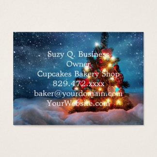 Weihnachtsbaum - Weihnachtsdekorationen - Visitenkarte