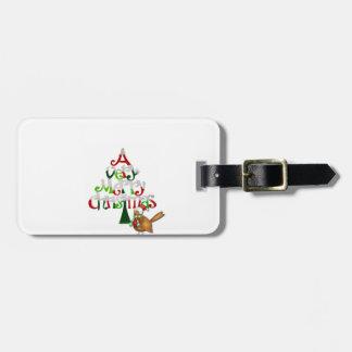 Weihnachtsbaum-Wörter Gepäckanhänger
