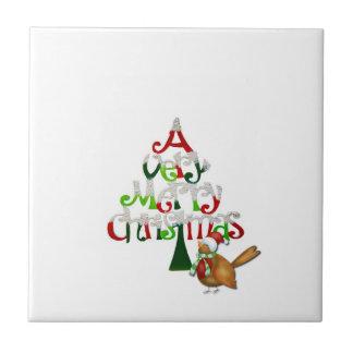 Weihnachtsbaum-Wörter Keramikfliese