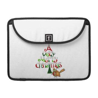 Weihnachtsbaum-Wörter Sleeve Für MacBooks
