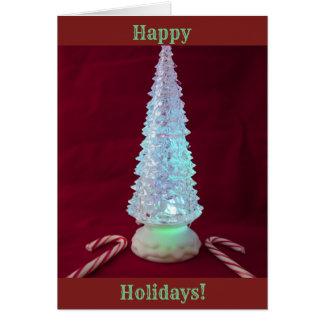 Weihnachtsbaum-Zuckerstangen Karte