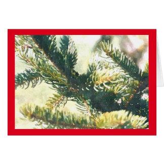WeihnachtsBaumast-Weihnachtskarte Grußkarte