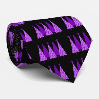 Weihnachtsbäume - Alzheimers lila Band Krawatte
