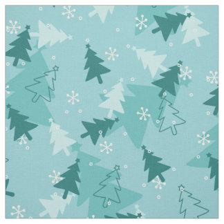 Weihnachtsbäume buntes Gewebe Stoff