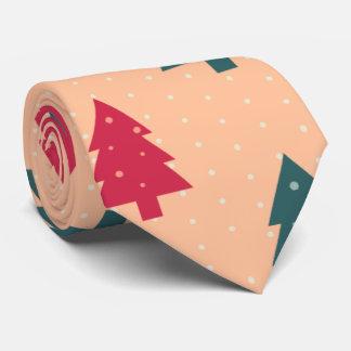 Weihnachtsbäume im Türkis und in der Rose Krawatte
