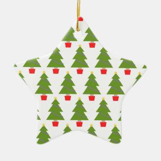 Weihnachtsbäume Keramik Ornament