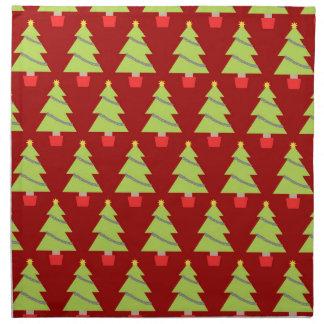 Weihnachtsbäume Serviette