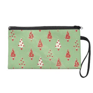 Weihnachtsbäume Wristlet Handtasche