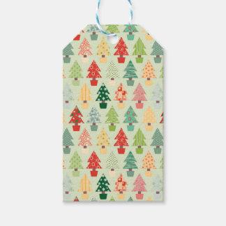 Weihnachtsbaummuster Geschenkanhänger