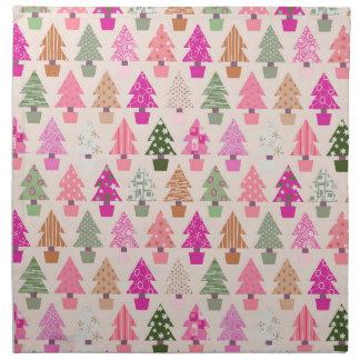 Weihnachtsbaummuster Serviette