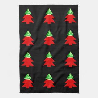 Weihnachtsbaumschwarz-Chic 4Evan Handtuch