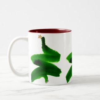 Weihnachtsbaumswish-Tasse Zweifarbige Tasse