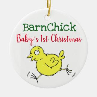 Weihnachtsbaumverzierung des Babys erste Keramik Ornament