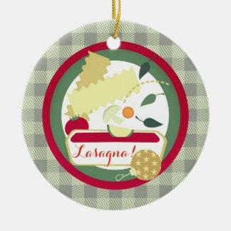 Weihnachtsbaumverzierung Nahrung der Lasagne Keramik Ornament