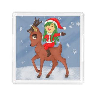 Weihnachtsbeifall Acryl Tablett