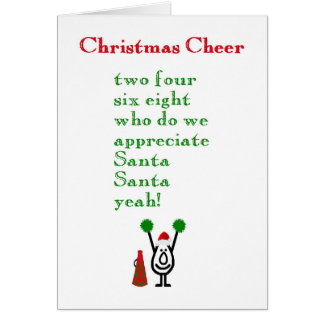 Weihnachtsbeifall - ein lustiges Weihnachtsgedicht Grußkarte
