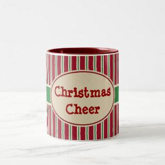 Weihnachtsbeifall-Feiertags-Kaffee-Tassen-Geschenk Zweifarbige Tasse