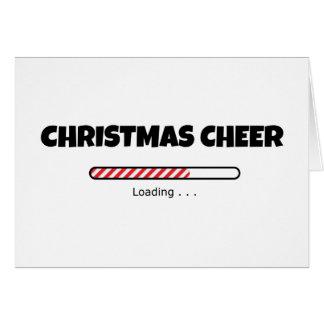 Weihnachtsbeifall - Fortschritts-Bar - Laden Grußkarte