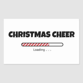 Weihnachtsbeifall - Fortschritts-Bar - Laden Rechteckiger Aufkleber