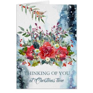 WeihnachtsBeileids-Karte - denkend an Sie Karte