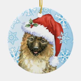 Weihnachtsbelgier Laekenois Keramik Ornament