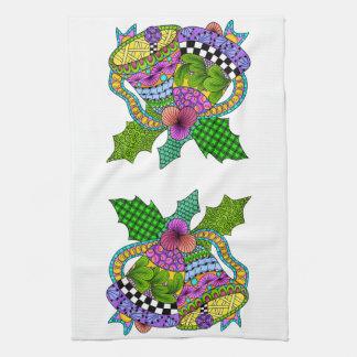 Weihnachtsbell-Drehung Handtuch