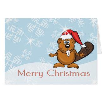 Weihnachtsbiber Grußkarte