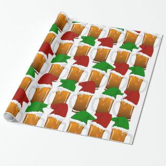 Weihnachtsbier-Beifall Geschenkpapier