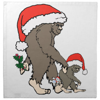 Weihnachtsbigfoot-Familie Serviette