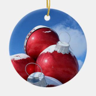 Weihnachtsbirnen-Fotodekoration Keramik Ornament