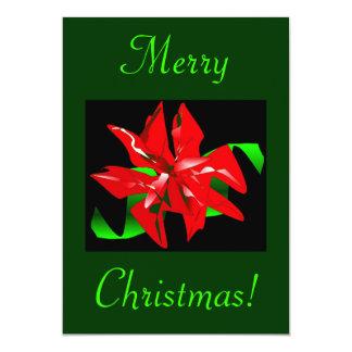 WeihnachtsBlume I Individuelle Einladungen