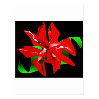 WeihnachtsBlume kundengerecht Postkarte