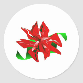 WeihnachtsBlumen-Aufkleber kundengerecht