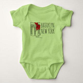 Weihnachtsbogen Brooklyn-Brücken-New York City NYC Baby Strampler