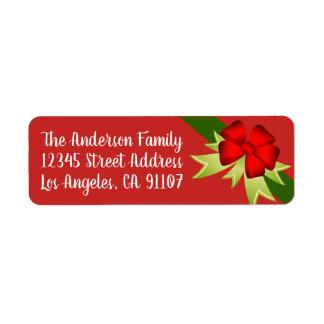 Weihnachtsbogen-Rücksendeadressen-Aufkleber