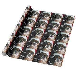 Weihnachtsboxer-Hund Geschenkpapier