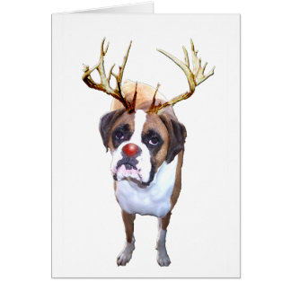 Weihnachtsboxer-Hund Karte