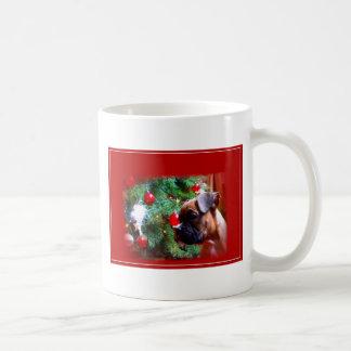 Weihnachtsboxer-Welpen-Tasse Kaffeetasse